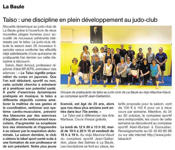 Taïso: une discipline en plein développement au Judo club